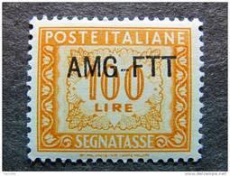 "ITALIA Trieste AMG-FTT Segnatasse-1949-54- ""Cifra"" £. 100 MNH** (descrizione) - 7. Trieste"