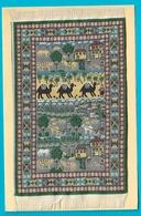 Turquie Carte Brodée Tapis Tissé Avec Des Animaux  Chevaux,chameaux,vaches - Borduurwerk