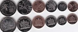Trinidad - Set 6 Coins 1 5 10 25 50 Cents 1 Dollar 1995 2016 AUNC UNC Lemberg-Zp - Trinidad & Tobago