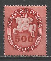 Hungary 1946. Scott #735 (M) Postrider * - Hongrie