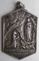 Medaille 1858 Paroles Sainte Vierge à Bernadette SOUBIROUS . LOURDES. Je Suis L'Immaculée Conception. - Religion & Esotericism