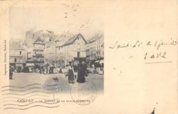 R060609 Saint Lo. Le Marche De La Place Gambetta. Cordier. 1903. B. Hopkins - Cartes Postales