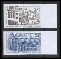 France N°2471 /2472 Europa 1987 Non Dentelé ** MNH (Imperforate) - France