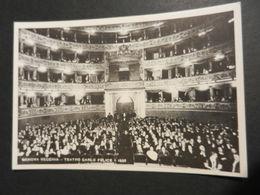 19868) SERIE GENOVA VECCHIA TEATRO CARLO FELICE INTERNO 1935 NON VIAGGIATA - Genova (Genoa)