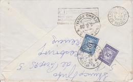 LOT  ~  4 X LETTER  WITH TAX STAMP ~  SEGNATASSE  ~-  FRANCE TO   TRIESTE  --  1966 ~  ( BRIEF MIT INHALT ) - 6. 1946-.. Republik