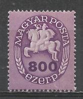Hungary 1946. Scott #737 (M) Postrider * - Hongrie