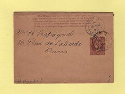 Natal - Afrique Du Sud - 1895 - Destination Paris - Luftpost & Aerogramme