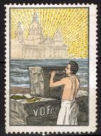 Freemason Mason - Basilica Cathedral Church - Germany  Label Vignette Cinderella - MH - Caliper - Franc-Maçonnerie