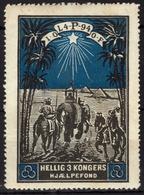 Elephant Camel Pyramid EGYPT Freemasonry Independent Order Of Odd Fellows IOOF Denmark 1914 Label Vignette Cinderella - Eléphants