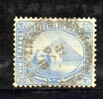 XP4658 - EGITTO 1879,  Yvert N. 27 Usato E Con Filigrana Capovolta (2380A) - Egitto