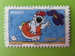 Timbre France YT 3958 (N° 91) - Sourires - Cubitus Avec Bonnet Phrygien Et Fleur Violette - 2006 - Francia