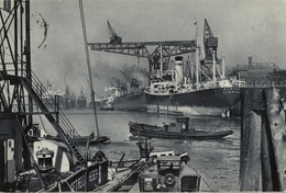 1939 BARCOS , TARJETA POSTAL CIRCULADA , PUERTO DE HAMBURGO - HAFEN - Schiffe