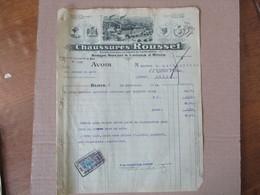 BLOIS  CHAUSSURES ROUSSET AVOIR DU 30 SEPTEMBRE 1924 TIMBRE QUITTANCES - Frankreich