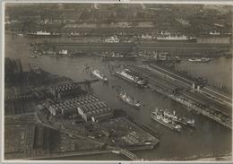 1933 BARCOS , TARJETA POSTAL CIRCULADA , PUERTO DE HAMBURGO - NEUE HAFENANLAGEN - Schiffe