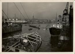 1937 BARCOS , TARJETA POSTAL CIRCULADA , PUERTO DE HAMBURGO - HAFEN UND STADT - Schiffe