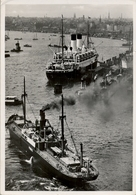 1940 BARCOS , TARJETA POSTAL CIRCULADA , PUERTO DE HAMBURGO - HAFEN - Schiffe