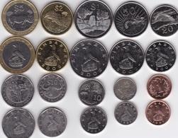 Zimbabwe - Set 10 Coins 1 5 10 20 50 Cent 1 2 5 10 25 Dollars 1997 - 2003 AUNC Lemberg-Zp - Zimbabwe