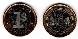 Zimbabwe - 1 Dollar Bond Coin 2016 - 2017 UNC Lemberg-Zp - Zimbabwe