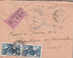 LSC 1954 - Recommandé CONAKRY Sur YT 38 (x2) - A.O.F. (1934-1959)