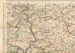 -Carte:Feuille ,DINANTLégation De  Belgique A La Haye . L'attaché Militaire(Lesve,Bourseigne,Septon - Cartes