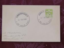 Denmark 1960 Special Polio Cancel On Postcard Copenhagen To Copenhagen - Nummer - Denmark