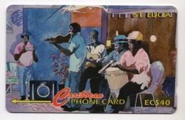 SAINTE LUCIE REF MV CARDS STL-22A Année 1995 40$ 22CSLA ORCHESTRA - Santa Lucía