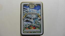 Boîte Métal  Publicitaire Décorée :Tisane Des  Alpes :Biologique - Boîtes/Coffrets