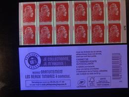 2019  CARNET MARIANNE L'ENGAGÉE ROUGE DATE 15.02.198 EN POSITION TRES BASSE  JE COLLECTIONNE JE M'ABONNE VARIÉTÉ - Freimarke