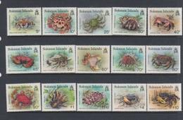 Solomon Islands SG 752-766 1993 Crabs,mint   Never Hinged - Solomon Islands (1978-...)