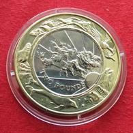 Falkland 2 Pound 1999 2000 Millennium Unc - Falkland Islands