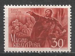 Hungary 1944. Scott #623 (M) Kossuth Orating * - Hongrie