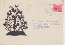SILHOUETTE CARD  ~~  FROM HUNGARY  ~~  ENGEL - Scherenschnitt - Silhouette