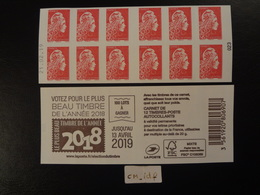 """2019  CARNET MARIANNE L'ENGAGÉE LETTRE PRIORITAIRE ROUGE DATÉ 21.02.19 EN POSITION BASSE  """"LE PLUS BEAU TIMBRE """" - Carnets"""