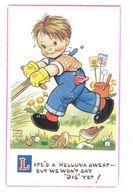 MABEL LUCIE ATTWELL ART DRAWN CARD No.6127 CHILDREN - Attwell, M. L.