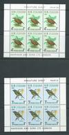 New Zealand 1966 Birds Weka Bellbird Health Charity Miniature Sheets MLH In Margin Only - New Zealand