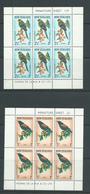 New Zealand 1962 Birds Tieke Kakariki Health Charity Miniature Sheets MNH , One With Margin Adhesion - New Zealand