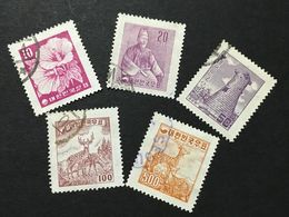 ◆◆◆KOREA 1956 Types Of 1954 Redrawn And No Hwan Symbol; Redrawn Character  Complete  Used   AA1705 - Corea Del Sur
