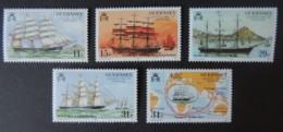 GUERNSEY 1987 SHIPPING SG415-419 MNH SET 5 VALUES GOLDEN SPUR SAILING SHIPS - Guernsey