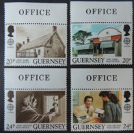 GUERNSEY 1990 POST OFFICE BUILDINGS SG486-489 MNH SET 4 VALUES POSTAL - Guernsey