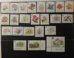 GUERNSEY 1992 FLOWERS SG562-582 STOCK ANEMONES GLADIOLUS LILY CLEMATIS CARNATION ROSE FREESIA ALSTROEMERIA HYDRANGEA - Guernsey