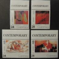 GUERNSEY 1993 EUROPA CONTEMPORARY ART SG607-610 MNH 4 VALUES - Guernsey