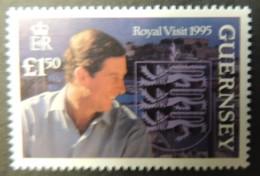GUERNSEY 1995 ROYAL VISIT SG680 MNH 1 VALUE ROYALTY CHARLES - Guernsey