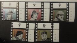 GUERNSEY 1996 CENTENARY OF CINEMA DETECTIVES TV MARLOWE SELLERS RATHBONE CHARLIE CHAN CLOUSEAU SHERLOCK BOGART MARPLE - Guernsey