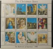 GUERNSEY 1996 CHRISTMAS SG716-729 MNH 14 VALUES ANGEL RELIGION NATIVITY SHEPHERDS THREE KINGS - Guernsey