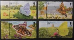 GUERNSEY 1997 BUTTERFLIES SG730-733 MNH 4 VALUES MOTHS INSECTS EMPORER BRIMSTONEHOLLY BLUE HAWK - Guernsey