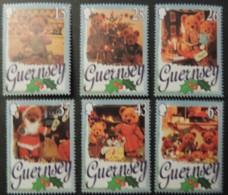 GUERNSEY 1997 CHRISTMAS TEDDY BEARS SG747-752 MNH 6 VALUES CHILDREN - Guernsey