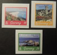 GUERNSEY 1997 SCENES SG737-739 MNH 3 VALUES SHELL BEACH SARK CASTLE CORNET TOURISM - Guernsey