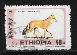 Ethiopia Scott # 1372E Used Simien Fox, 1994 - Etiopia