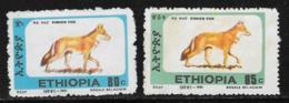 Ethiopia Scott # 1372H-I Unused No Gum Simien Fox, 1994 - Ethiopia