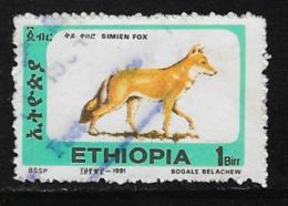 Ethiopia Scott # 1372J Used Simien Fox, 1994 - Ethiopia